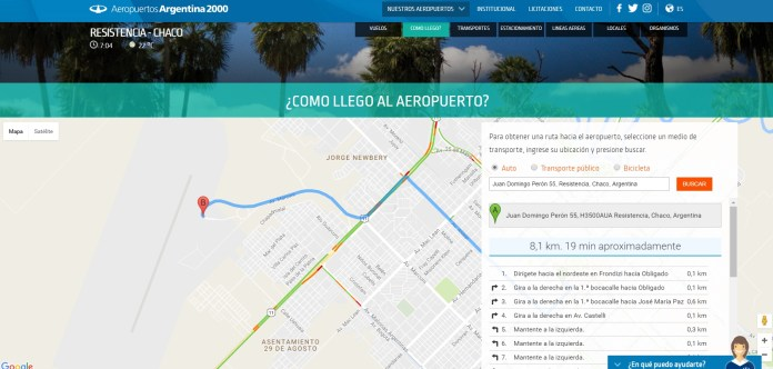 Aeropuertos Argentina 2000 - nuevo sitio web - mapa