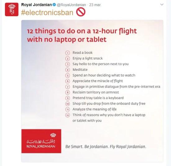 Royal Jordanian Tweet lista