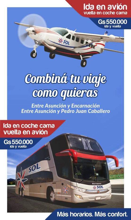 Sol del Paraguay - avion y micro 1