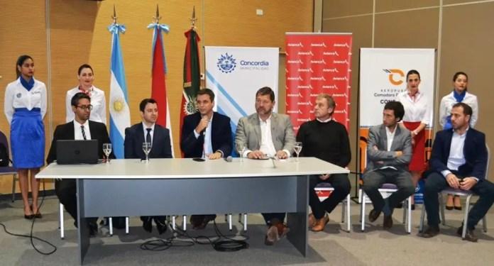 Concordia - Aeropuerto - presentacion vuelos Avianca Argentina 15JUN