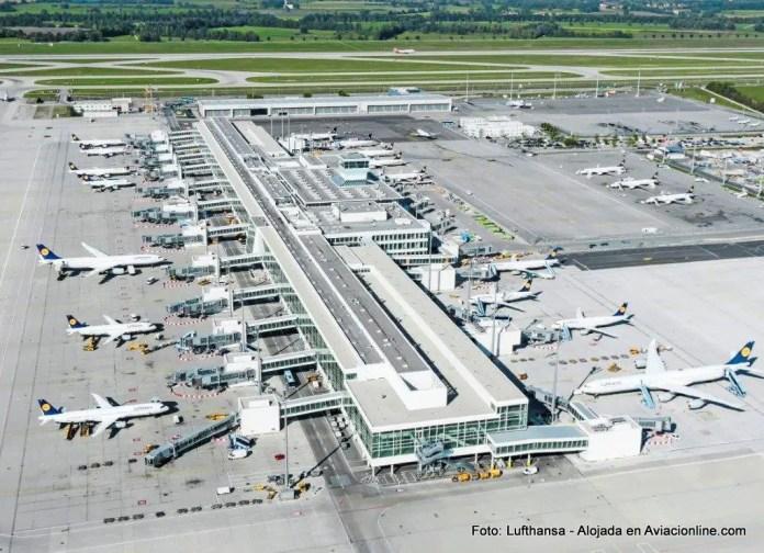 Terminal 2 del aeropuerto de Munich.