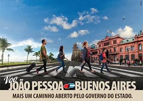 Anuncio del estado de Paraíba promocionando el nuevo vuelo.