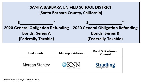 SANTA BARBARA UNIFIED SCHOOL DISTRICT (Santa Barbara County, California) $_______________* 2020 General Obligation Refunding Bonds, Series A (Federally Taxable) $_______________* 2020 General Obligation Refunding Bonds, Series B (Federally Taxable) POS POSTED 6-24-20