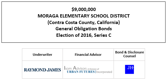 $9,000,000 MORAGA ELEMENTARY SCHOOL DISTRICT (Contra Costa County, California) General Obligation Bonds Election of 2016, Series C FOS POSTED 9-23-20