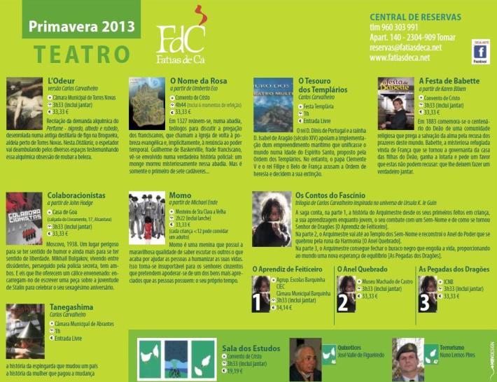 Agenda Trimestral - Primavera 2013 - III