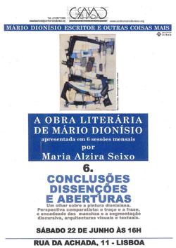 A Obra Literária de Mário Dionísio - VI