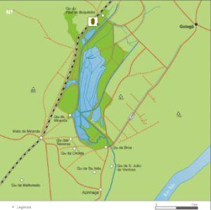 Paúl do Boquilobo - mapa