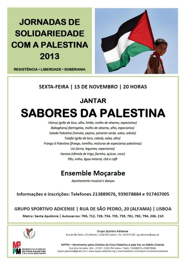 Cartaz Jantar Palestino 2013