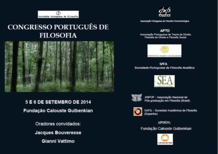 Cartaz Congresso Português de Filosofia
