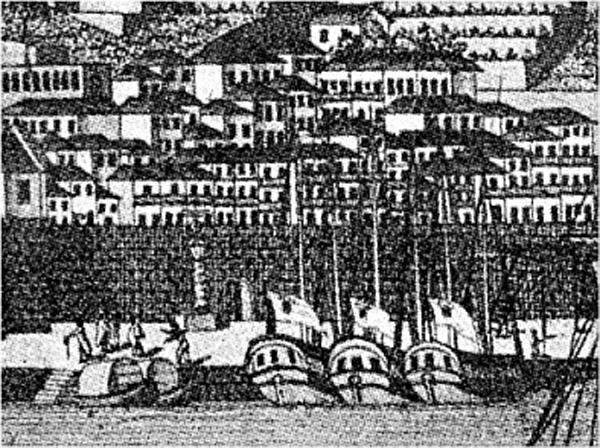 Pelourinho e a forca numa gravura de Marques d' Aguillar de 1791.