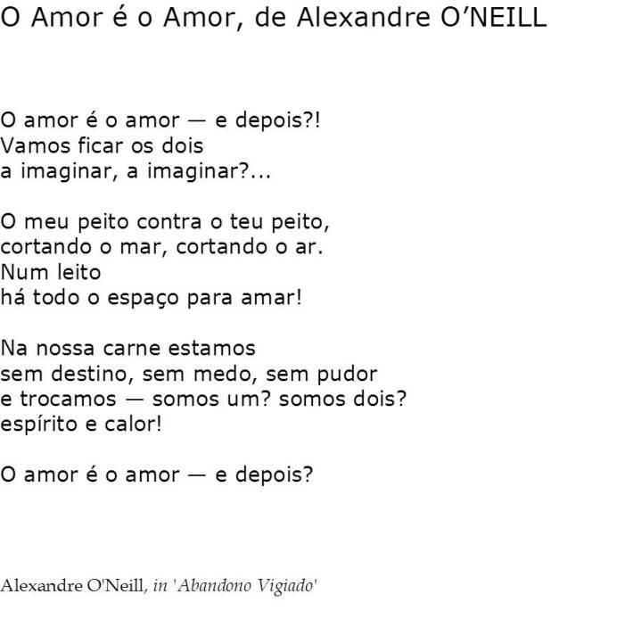 O Amor é o Amor, de Alexandre O'Neill