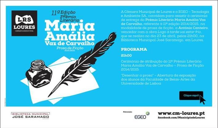 Prémio Maria Amália Vaz de Carvalho - II