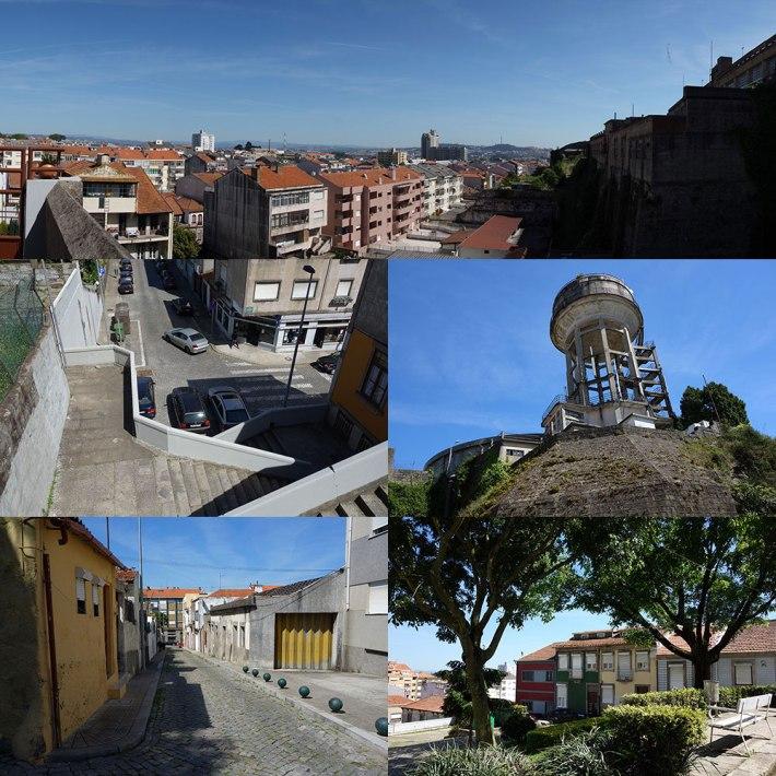 Vista do Monte do Tadeu - Ao longe vê-se Gondomar e V.N.Gaia Rua do Tadeu Jardim Travessa de Santo Isidro Depósito Torre