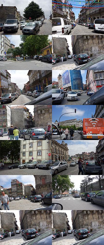 Carros na Baixa do Porto