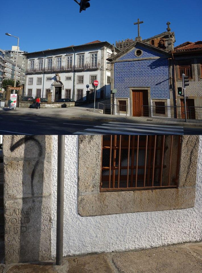 CAPELA DO SENHOR BOM JESUS DA BOA NOVA Ao lado pode ver-se o Palácio dos Terena e por trás a Torre de Pedro Sem O pedestal do Cruzeiro pode ver-se no canto inferior esquerdo da Capela