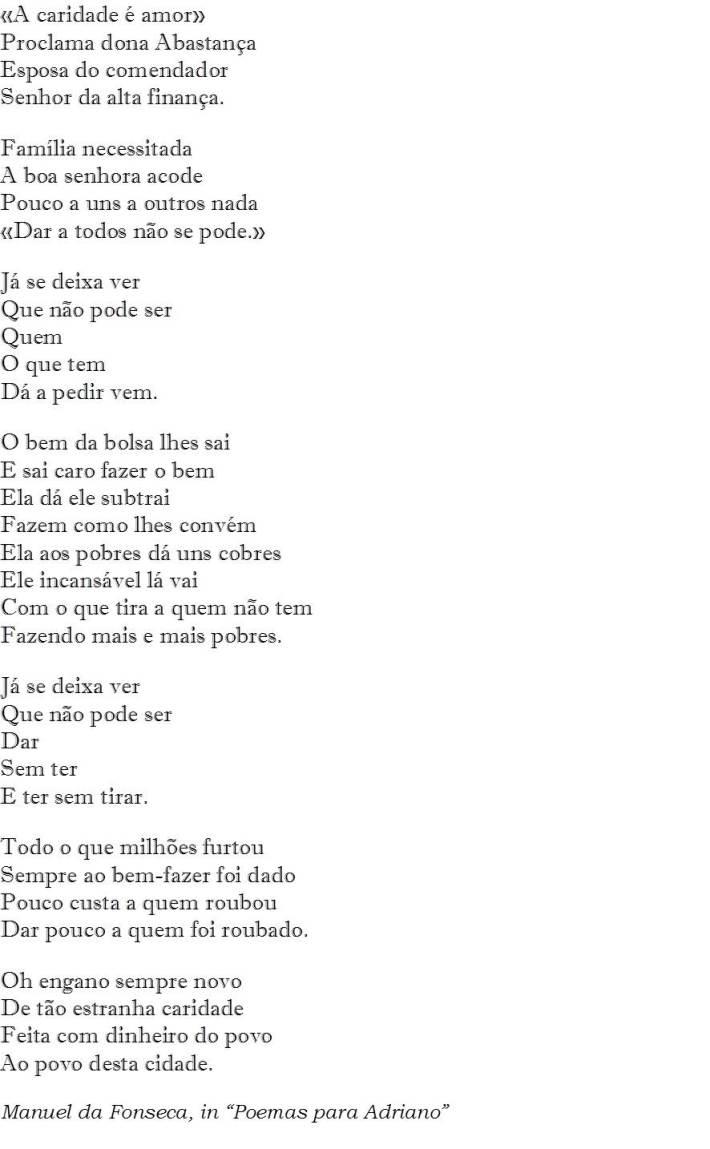 Poema para Dona Abastança