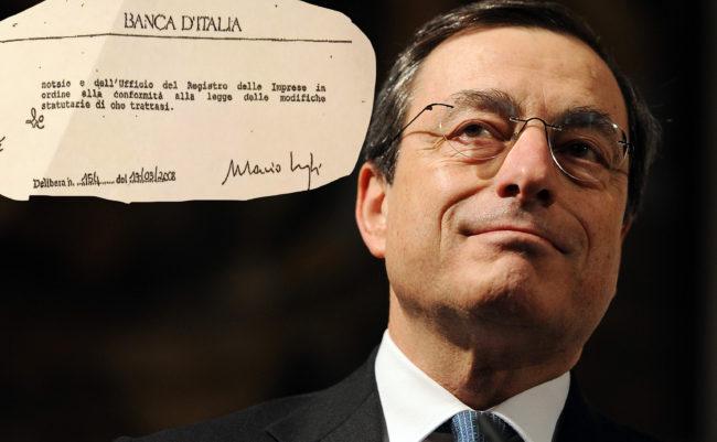 Il Governatore della Banca d'Italia, Mario Draghi oggi, 21 marzo 2011, all'Universita' Cattolica a Milano. ANSA/DANIEL DAL ZENNARO