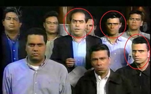 líderes da oposição