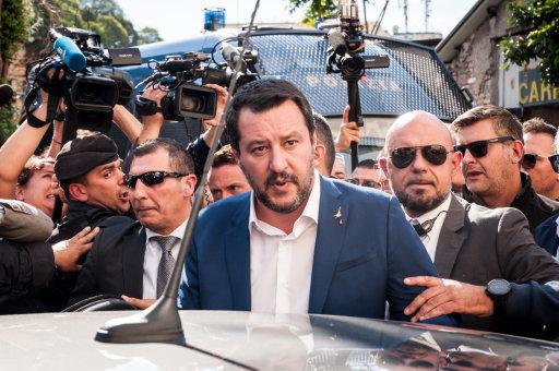 Italy: Matteo Salvini Visit to the San Lorenzo District of Rome