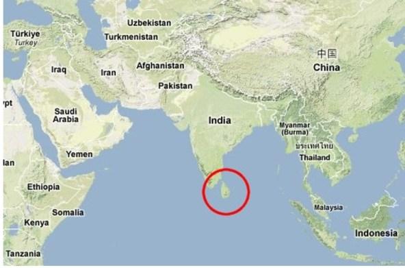 Sri Lanka no grande jogo EUA Índia contra a China