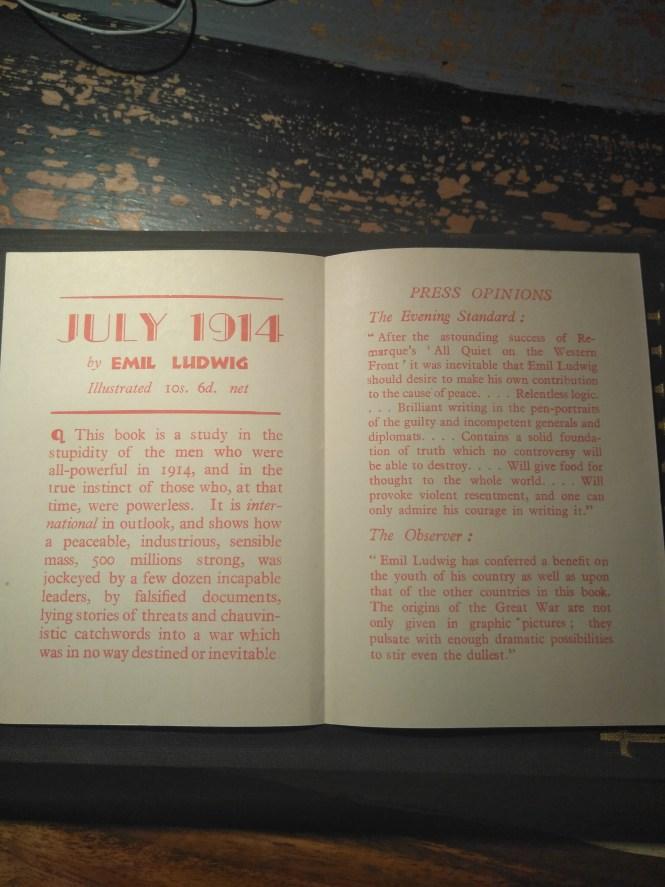 july 1914 propaganda