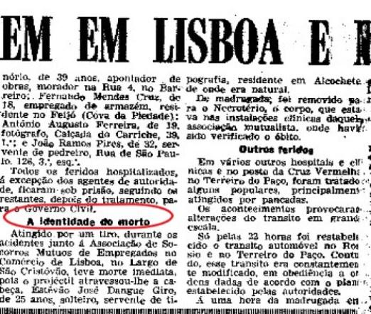 Assassinato Estevão Giro 2
