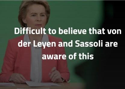 157 É difícil acreditar que von der Leyen e Sassoli tenham conhecimento disto 1