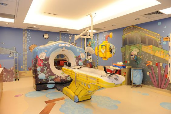 Yellow Submarine CT scanner found on pinterest