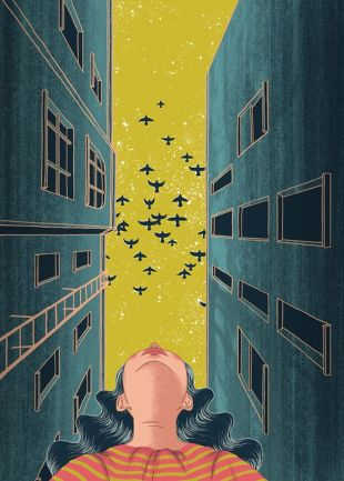 Editorial Illustration by Nhung Le found on behance.net