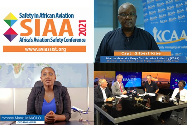 Screenshots collage of aviation and safety speakers from previous year's SiAA event.