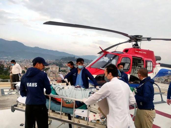 hams hospital helipad