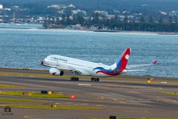 nepal airlines a330 take0ff