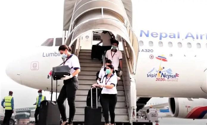 nepal airlines flight crew