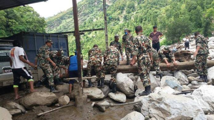 nepali army sindhupalchowk flood