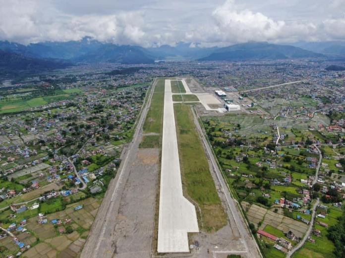 pokhara airport aerial view