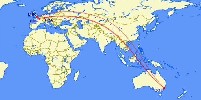 qantas australia europe flight aviatech channel
