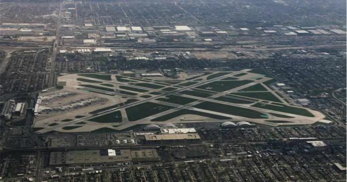 chicago midway international airport aerial view aviatechchannel