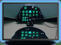 Fouga-1-4 - LCD lightning cockpit instrument panel - 604,80