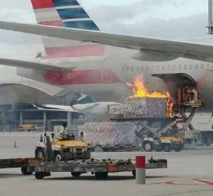American Airlines flight canceled after cargo loader bursts into flames 2