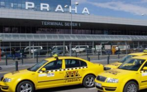 Czech taxi drivers block major road to Prague international airport to protest Uber 27