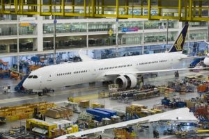Boeing rolls out Singapore Airlines' first 787-10 Dreamliner 9