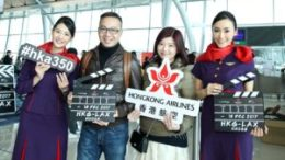Hong Kong Airlines' first flight to Los Angeles takes off 17