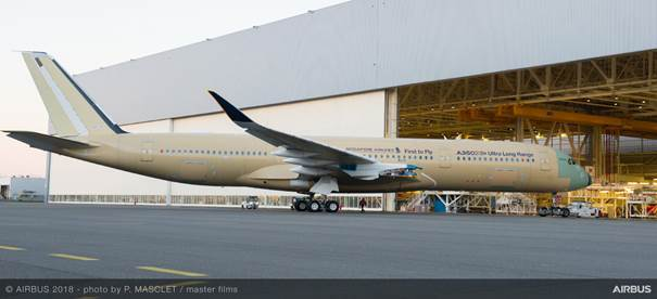 Airbus: First Ultra Long Range A350 XWB makes its debut 9