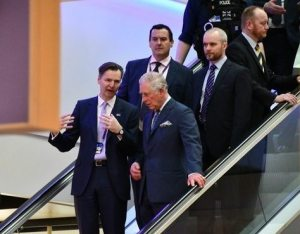 Prince of Wales visits Heathrow in security services meet and greet