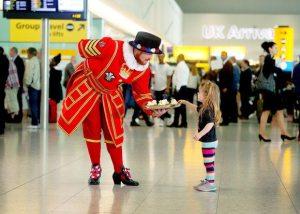 Heathrow brings a taste of the royal wedding to arriving airline passengers