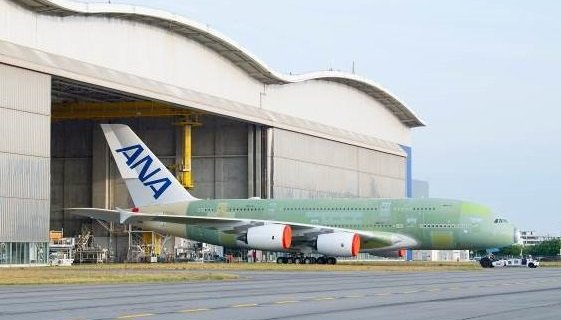 First ANA Airbus A380 rolls out of final assembly line in Toulouse 8