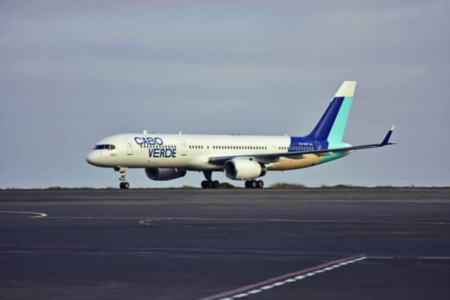 Praia de Santa Maria: Cabo Verde new livery landed 1