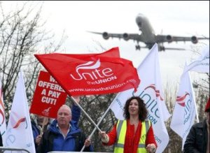 Heathrow 'disappointed' in Unite members' potential summer strike
