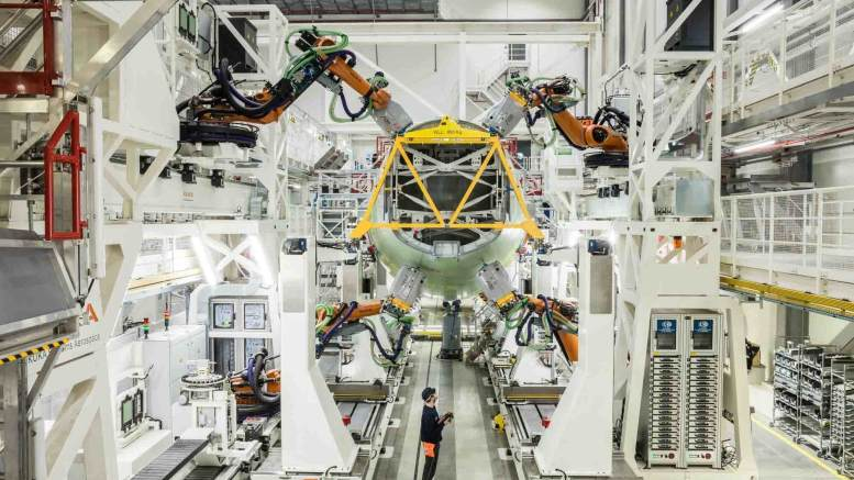 Airbus inaugurates new A320 structure assembly line in Hamburg 1