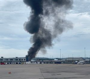 WWII B-17 bomber crashes at Bradley International Airport in Connecticut